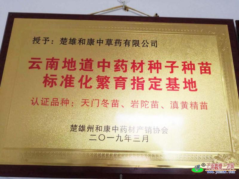 地道药材标准华繁育基地